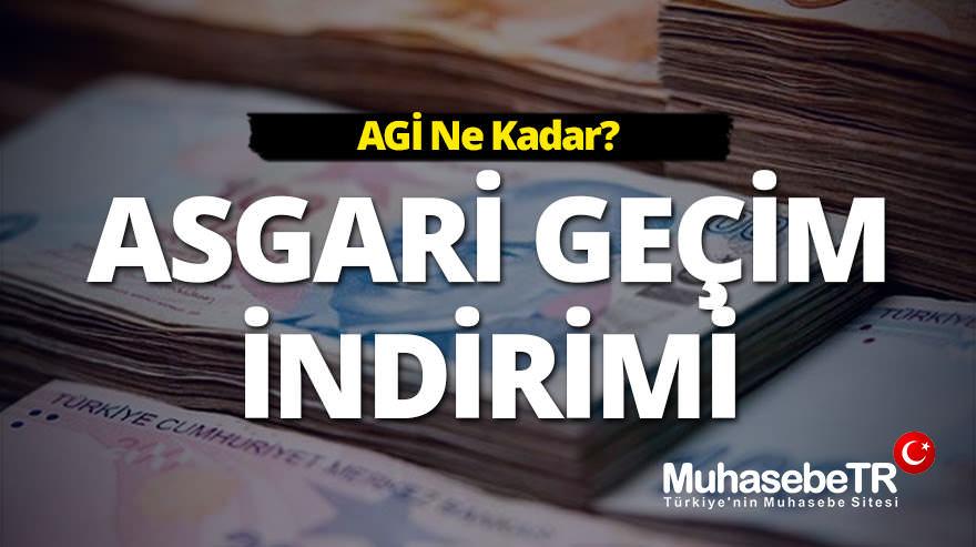 Asgari Geçim Ýndirimi (AGÝ) 2018 - AGÝ Ne Kadar? 2018-2017