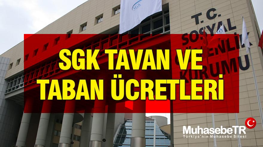 SGK Tavan ve Taban Ücretleri 2018-2017-2016