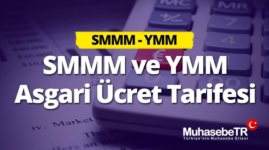 SMMM ve YMM Asgari Ücret Tarifesi 2019